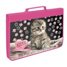 """Папка для труда ПТ-Р5 """"Kitty"""", А4 на молнии с ручкой"""
