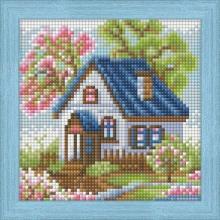 """Алмазная вышивка (алмазная мозаика) """"Весенний домик"""" АЖ-1567"""