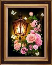"Алмазная вышивка (алмазная мозаика) ""Фонарь в розах"" АЖ-1721"