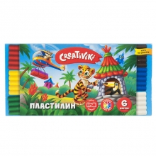 "Пластилин ""Creativiki"" 6 цветов"