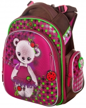 """Школьный ранец Hummingbird Kids ТК42 """"Bonny bear""""+мешок для обуви"""