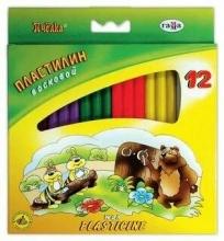 """Пластилин восковый """"Пчёлка"""", 12 цветов"""
