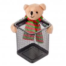 Подставка для ручек и карандашей с медведем