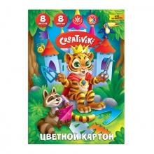 """Цветной картон """"Creativiki"""" 8 цветов, 8 листов А4"""