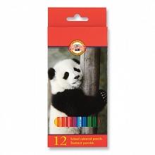 Карандаши Животные, 12 цв. карт.