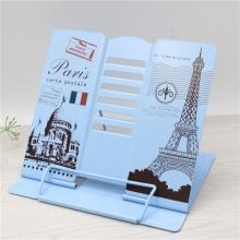 Подставка для книг металлическая Париж открытка MQ105-BL Blue