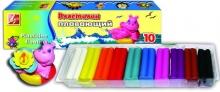 Пластилин плавающий 10 цветов, стек, картонная упаковка, кусочки в корексе 95 гр
