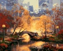 Картина по номерам Осенний мостик 40х50см.