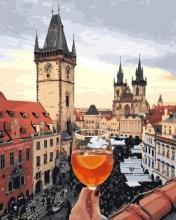 Картина по номерам Площадь в Праге 40х50см.