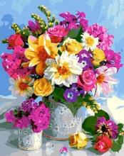 Картина по номерам Цветочная ваза 40х50см.