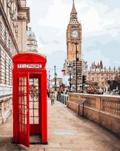 Картина по номерам Визитка Лондона 40х50см.