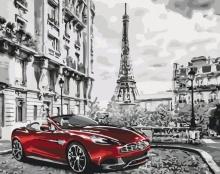 Картина по номерам Авто в Париже 40х50см.