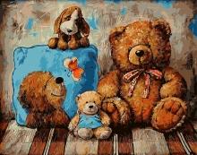 Картина по номерам Ждущие медведи 40х50см.