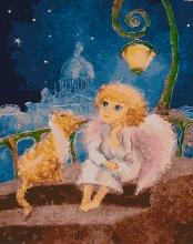 Картина по номерам Ангел дрёма 40х50см.