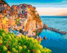 Картина по номерам Чинкве-Терре, Италия 40х50см.