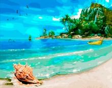 Картина по номерам Идеальный пляж 40х50см.