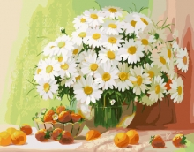 Картина по номерам Ромашки и ягоды 40х50 см.