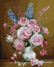 Картина по номерам Цветы в изящной вазе 40х50 см.