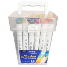Набор двухсторонних профессиональных маркеров Lanke GM909 для скетчинга, 24 цветов