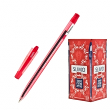 Ручка шариковая Cello Slimo, красная
