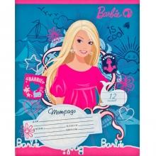 """Школьная тетрадь """"Барби"""", 12 листов, клетка"""