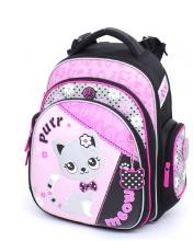 """Школьный ранец Hummingbird Kids ТК38 """"Purr meow""""+мешок для обуви"""