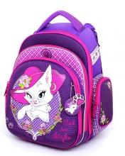 """Школьный ранец Hummingbird Kids ТК61 """"Cat in Style """"+мешок для обуви"""