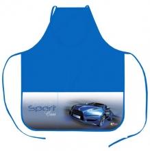 """Фартук для уроков труда """"Sport car синий"""" с нарукавниками."""