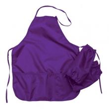 Фартук для уроков труда фиолетовый с нарукавниками.